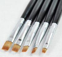 Wholesale Silver UV Gel Acrylic Nail Art Builder Brush Pen Design Nail Polish Tips set via CPA