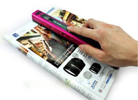 Wholesale 1pcNew LZ A4 Portable Color Hand film Scanner Support USB portable document photo scanner Sample