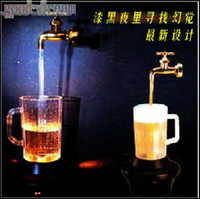 Wholesale Creative colorful LED lights magic magic magic faucet flagon decorative lights cups light
