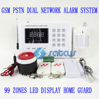 900/1800/1900mhz alarm systems cost - Cost Effective GSM PSTN LED Screen Wireless Wired Anti Theft Alarm System sg