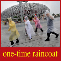 Wholesale 30PCS One time Raincoat Disposable Rainwear Slicker Mackintosh Portable Travel Necessary