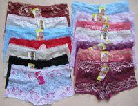 Boy Shorts silk lace panties - 100pcs Bud silk lace transparent sexy Ladies Panties lady bud silk Inner pants