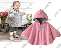 6M-2Y baby wearing poncho - 4pcs Two sided wear Reversible baby copes jackets cloaks baby romper babies clothing infants