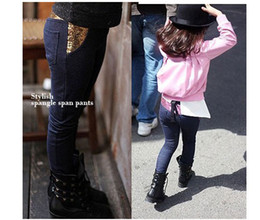 Wholesale Children jeans kids denim clothing girls sequins stretch jeans dandys