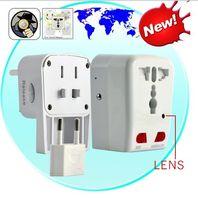 Wholesale Spy Socket Plug Camera Motion Detection Universal Adapter Hidden Camera BD Christmas Sample