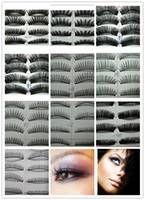 Wholesale 10 Set Pairs in a SET Natural OR Thick Fake False Eyelashes STYLES CHOICE