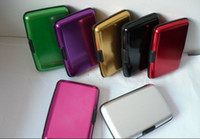 Wholesale 1000pcs Aluminium Credit card wallet cases colors available card holder bank card case