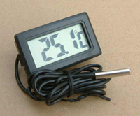 Wholesale 200cm Line New Digital LCD Thermometer for Aquarium Fish Tank Freezer Water