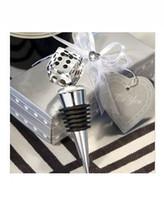 Wholesale Crystal Dice Wine Bottle Stopper Wedding Favors Color Box