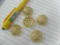 Wholesale Findings Big Bead Caps mm Gold Color Bead Caps for Big Size beads