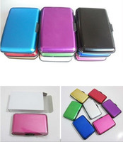 Wholesale 240pcs Aluminium Wallet Credit card cases card holder bank card case aluminum wallet with white box