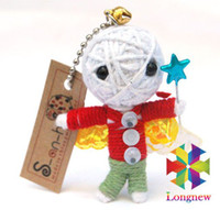 Wholesale a Voodoo Doll Keychain Mobile Pendant too all countries
