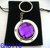 Wholesale 4 cm round metal foldable bag hanger bag hook purse hook purse hanger mixed color GH05