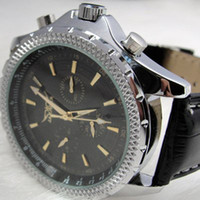 Wholesale designer mens watches leather band stainless glass back mechanical dive men wristwatch sport jaragar