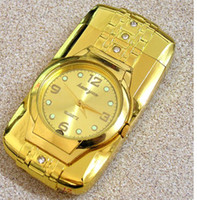 Wholesale Windproof Silver Metal Cigarette Lighter Watch with Multi Colors Changing LED