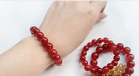 Wholesale natural red Emerald agate bracelets
