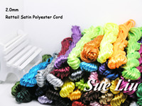 Wholesale 2mm yds pcsx10yds Rattail Satin Cord Chinese Knot Polyester similar but not nylon Cord NCP5