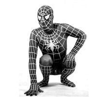 Wholesale 2012 NEW hot Halloween Lycra Spandex Spiderman zentai unitard Costume S XXXL black