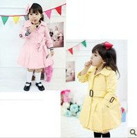 baby girl kids long sleeve tench coat trench coat sweater ou...