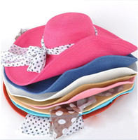 Wholesale 10Piece Korean hat Princess Hat Ladies Hat summer tour sunshade cap large Straw Beach Hat