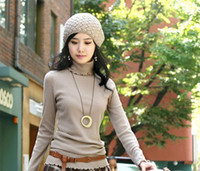 Wholesale Women s Turtleneck Computer Knitted Pullovers knitted sweaters