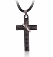 Wholesale fashion cross pendant stainless steel pendant fit men s necklace