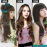 Wholesale New quot quot Clip On Hair Extensions Straight Wavy styles in choice