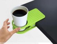 Wholesale Drinklip Cup Holder Table Desk Drink Coffee Cup Floder Holder Clip Random Color KD8F3