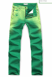 Wholesale Hot Sales Men s Fashion casual jeans tide male Straight jeans green
