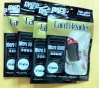 Wholesale 1000pcs Fashionable key chain PC Memory card reader Micro SD TF M2 MMC card reader retail packing