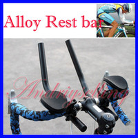 Wholesale NEW Road Mountain Bike Cycling Bicycle MTB Aluminum Alloy Triathlon Aero Handlebar Rest Handle Bar