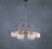 Wholesale Contemporary Crystal Chandelier with Lamp Shade Chrome Finish D29 H31 in