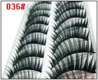 Wholesale Black Stem False Eyelashes Pure Handmade Fake Eyelashes Pairs Styles Thick Series