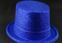 Wholesale HALLOWEEN Masquerade Glitter Powder Bowler Top Hat Cap Man Lady Colors Mixed