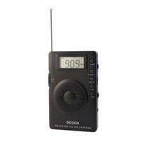 Wholesale New DEGEN DE215 FM FML MW Radio Receiver Mini Handle Portable Three Bands A0906A