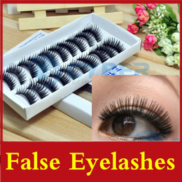 Wholesale 200Pairs Natural False Eyelashes Hand Made Thick Long False Eyelashes Cross Eyelash Voluminous