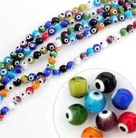 Wholesale DIY Brightly mixed color crystal Evil Eye Beads glaze
