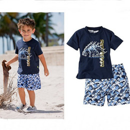 Wholesale Summer children s clothing beach boy s surfing suit short sleeve shorts baby_market