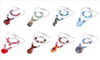Wholesale summer jewelry lampwork glass necklace bracelet mixed styles by dhl ems free