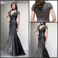2014 New Style V- neck Mother Of Groom Dresses Short Lace Sle...