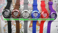 Sport analog love - Fashion LOVE watches heart shaped diamond love watch Candy Jelly Colors Unisex jessie06