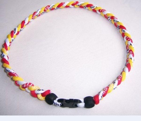 Whole ale 39 color 3 rope 3 tornado germanium titaniumtornado necklace 18 quot 20 quot 22 quot retai