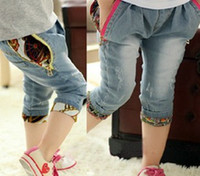 children fashion garment - High Quality children fashion garment girls jeans girls pants Casual Pants Cropped Trousers