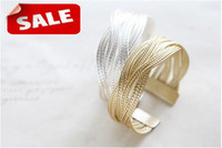 Wholesale Fashion Bracelet Simple Stylish Alloy Twist Weaving Bangle Bracelets charm jewelry