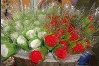 Wholesale Wedding Favor Gifts cake towel Rose flower Towel cotton towel