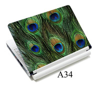 Wholesale NEW HOT quot amp quot cool peacock pattern fashion skin sticker for laptop notbook with