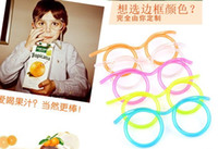 Wholesale Drinking Glasses Eyeglasses Fully Functioning Drinking Straw Best Gift For Children