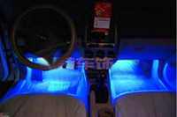Wholesale LED ambient lighting atmosphere within the automotive supplies decorative lights light blue interior