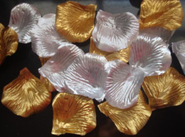 10 bags Glod or Silver silk rose petal petals wedding favors party decoration 1000 pcs
