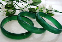 Wholesale IMPERIAL GREEN NATURAL JADE BANGLE Chinese JADEITE BRACELET CHARM JEWELRY
